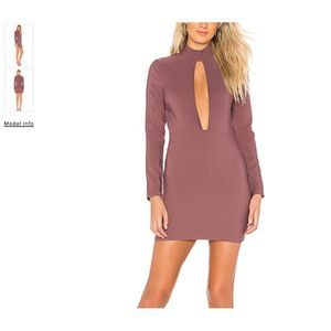 by the way. Lyssa Cut Out Neckline Dress Purple